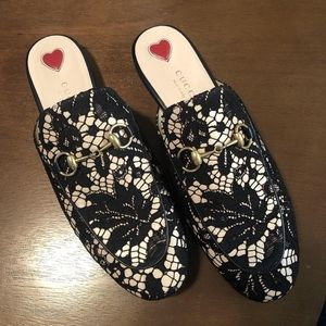 💯 Authentic Gucci Lace Princetown Mules